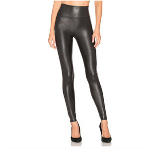SPANX Faux Leather High Waisted Leggings Black XL